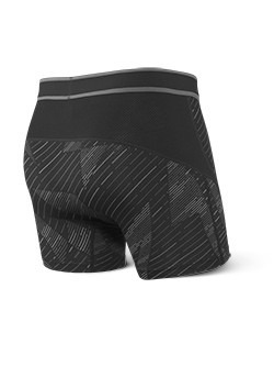 Bokserki męskie SAXX Kinetic Boxer Brief Black Shattered
