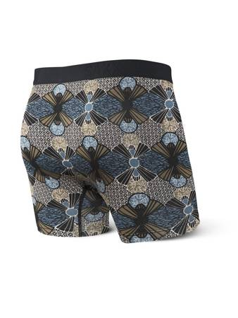 Bokserki męskie SAXX Ultra Boxer Brief Fly Blue Sunrise Kente M