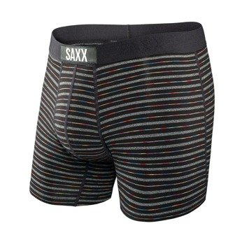 Bokserki męskie SAXX VIBE BOXER BRIEF BLACK GRADIENT STRIPE