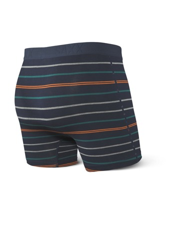 Bokserki męskie SAXX VIBE BOXER BRIEF NAVY LAKESIDE STRIPE