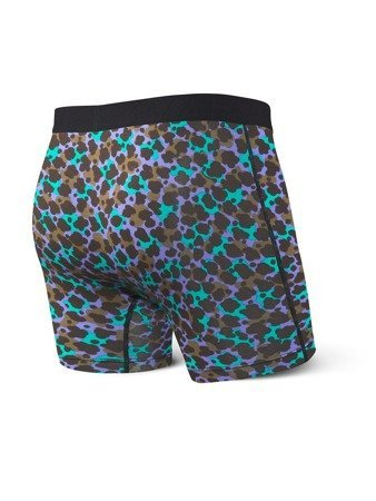 Bokserki męskie SAXX Vibe Boxer Brief Blue Animal Camo