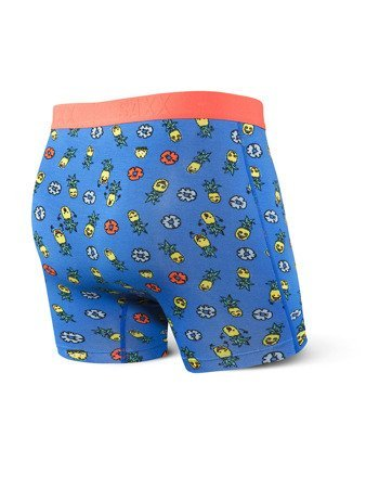 Bokserki męskie SAXX Vibe Boxer Brief Blue Pinapple Bash