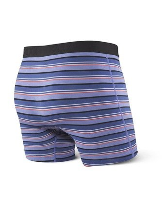 Bokserki męskie SAXX Vibe Boxer Brief Purple Coast Stripe