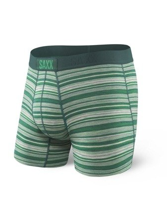Bokserki męskie SAXX Vibe Boxer Modern Fit Emerald Heather Stripe