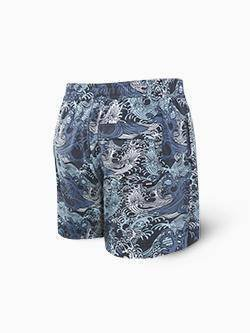 Spodenki męskie SAXX Cannonball 2n1 Trunk Blue Great Wave M