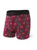 Bokserki męskie SAXX Platinum Boxer Brief Fly Red Tattoo Flash M